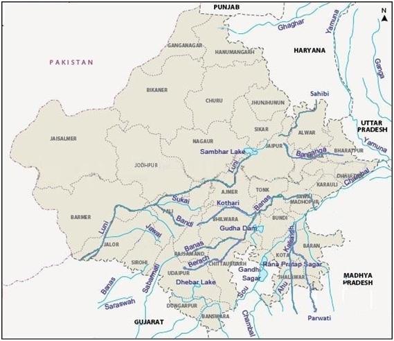 Rajasthan River Map