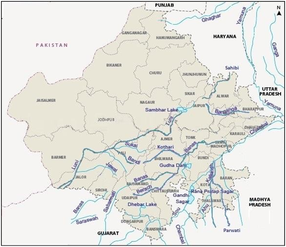Rajasthan River Map