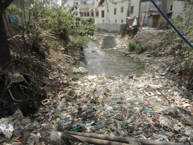 Asi with garbage, sewage and encroachemnt. Photo- Jinda Sandbhor