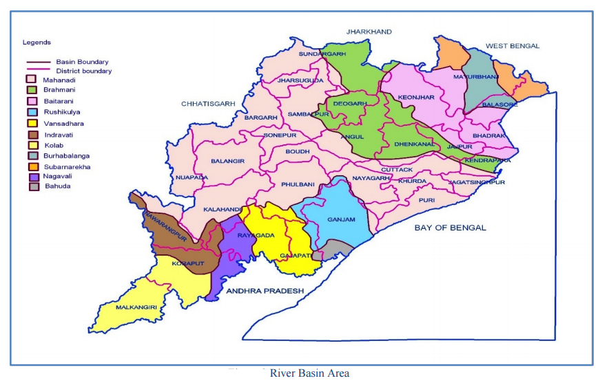 odisha river basin area map