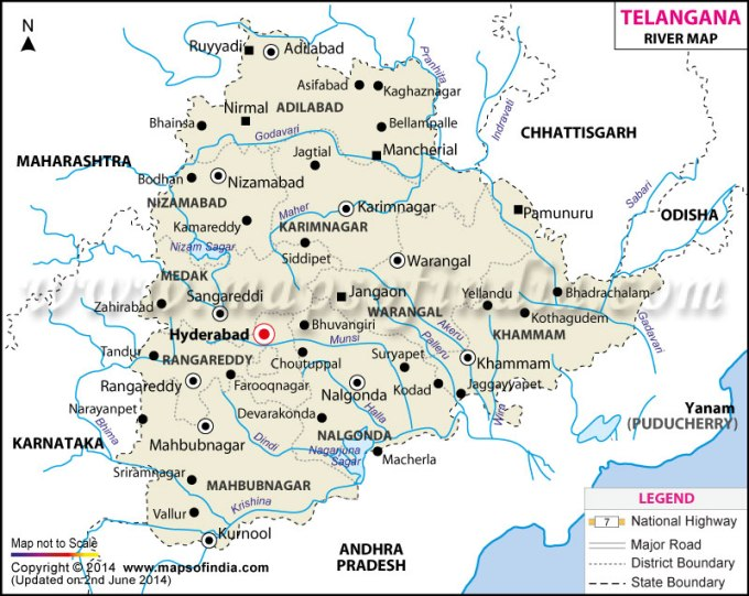 telangana-river-map