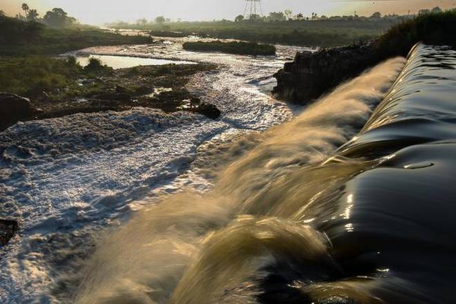 Industrial effluents from in and around the city have turned the Musi river, seen here at Peerzadiguda, on the city's outskirts, frothy and toxic.jpg