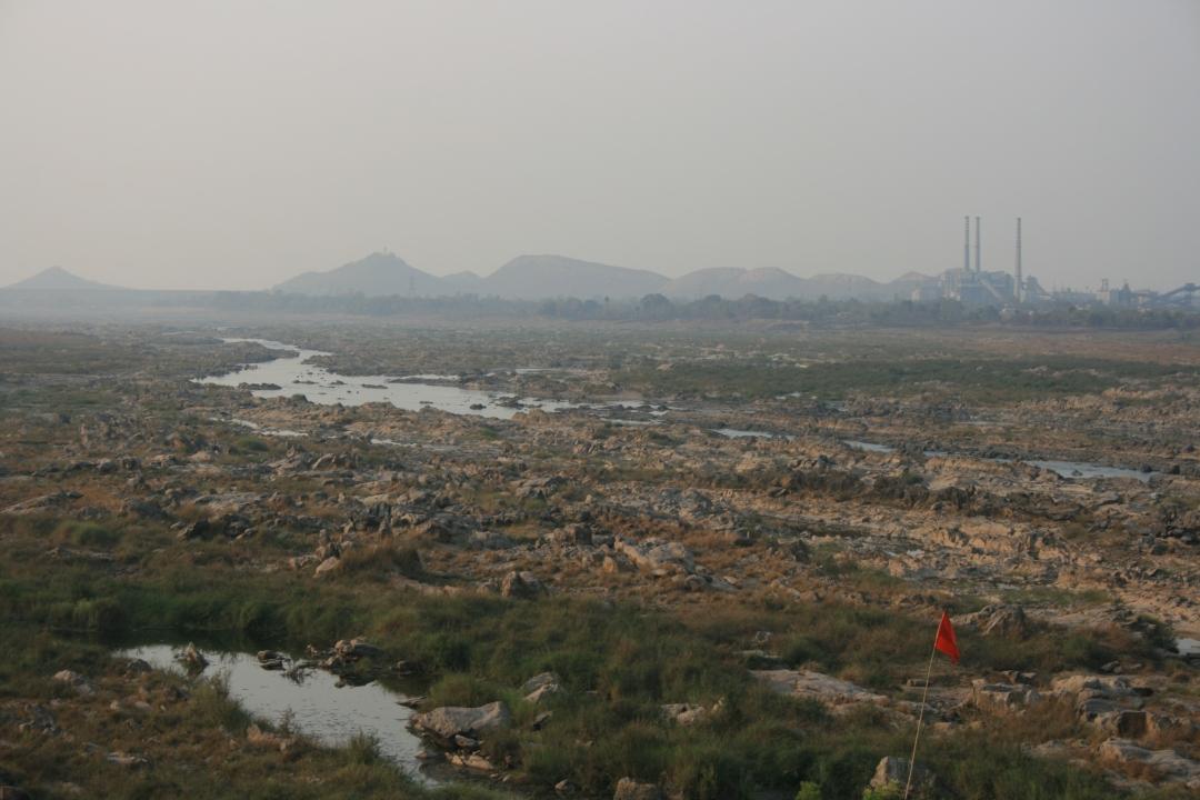 Mahanadi below Hirakud