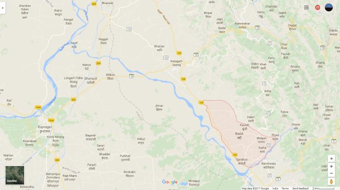 Sirsa Satluj Baddi Map