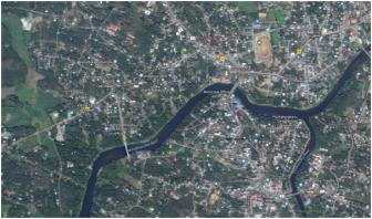 Moovathupuzha river in Kerala (Google Earth Image by N Ramdas Iyer)