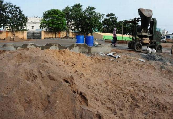 The free sand policy has brought down the cost of construction significantly, says Minister Photo Credit C.V.Subrahmanyam