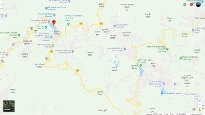 Nainital Maps