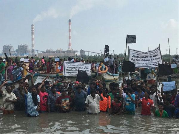 Image result for jal satyagraha tamil nadu save ennore creek