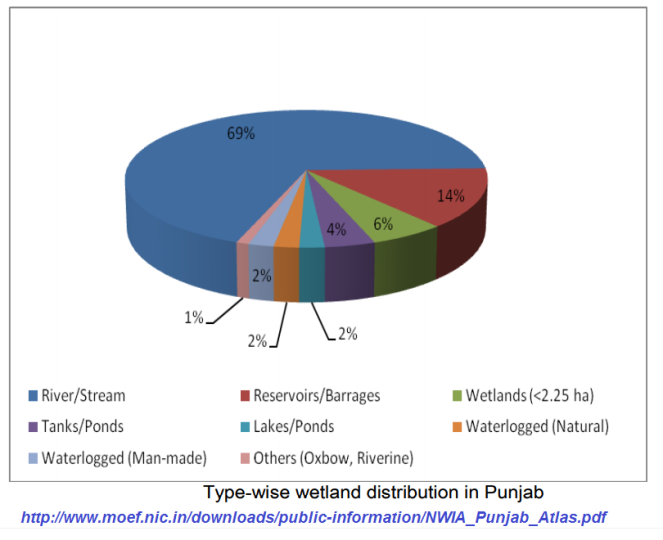 Types of Wetlands in Punjab