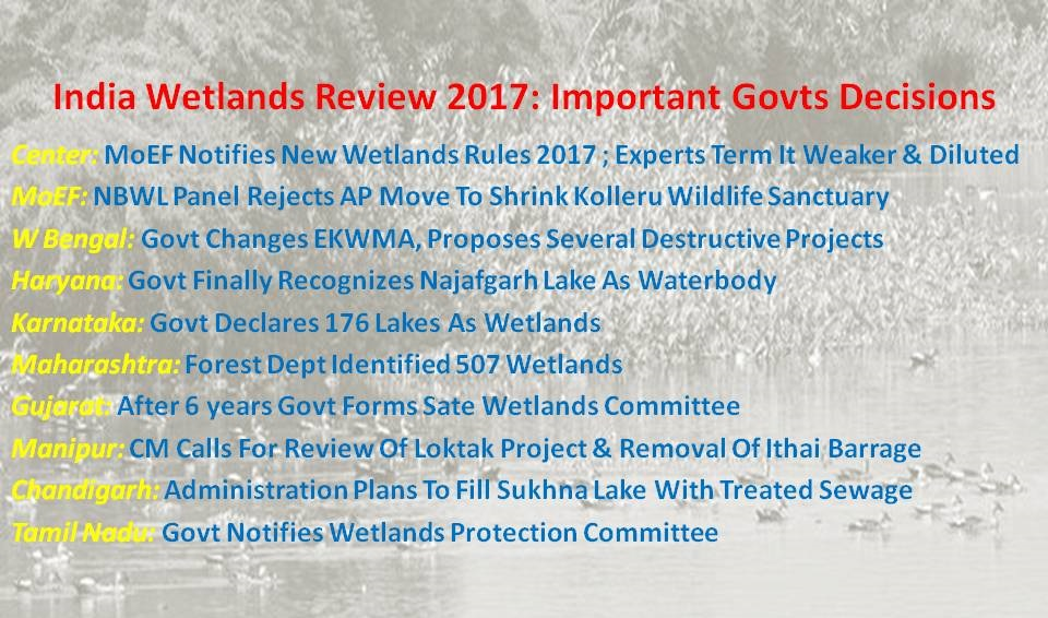 India Wetlands Review 2017