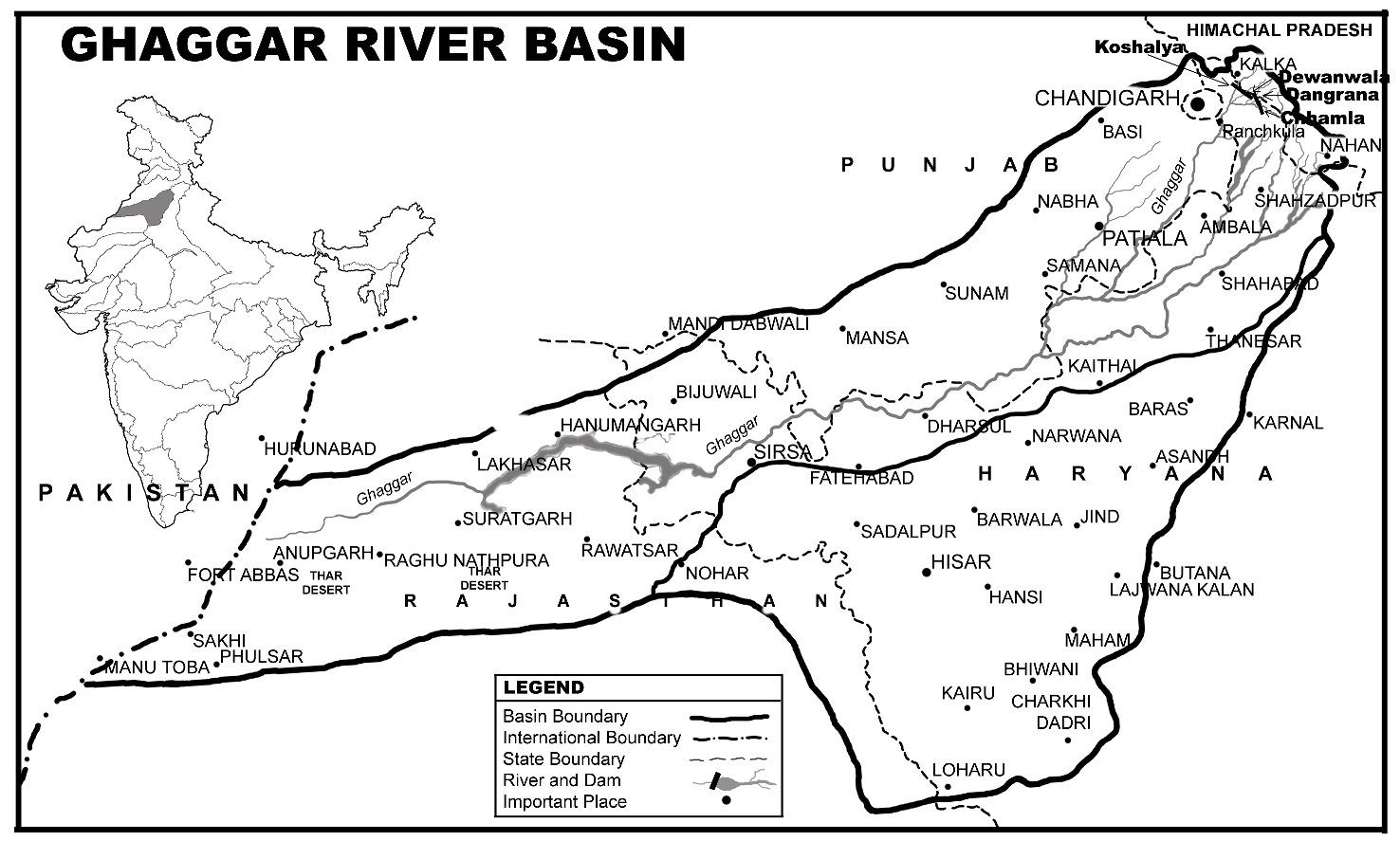 India Map Rivers And Dams
