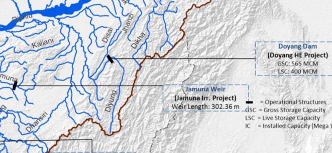 WRIS map Doyang Project