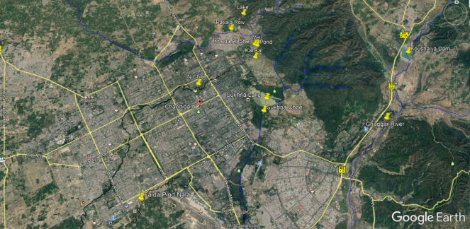 Chandigarh Drains Map.png