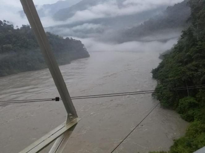 CWC Photo Siang River at Yingkiong on Oct 20 morning