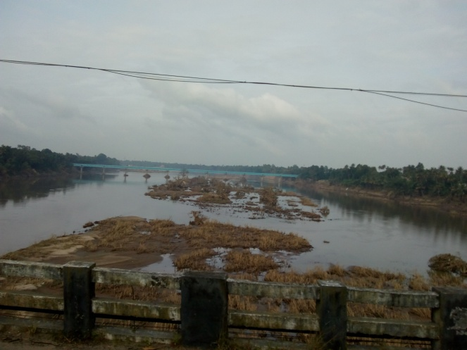 the Periyar river from the Kalady bridge on August 26 Madhu