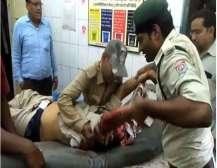 Injured Kushwaha in hospital