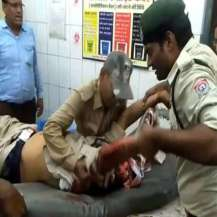 Injured Kushwaha in hospital
