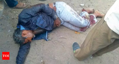 Nayan Kalola lying on ground after fatal attack in June 2018