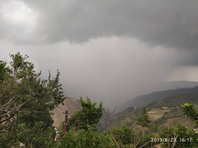 Dense Clouds covering Chauthan on June 23, Image by Sakam Ramola