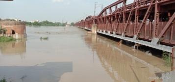 River Yamuna atORB during Aug. 2019 Floods. (Image: Bhim Singh Rawat)