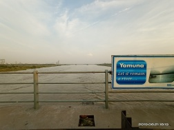 River Yamuna at DND Flyover during Aug. 2019 Floods. (Image: Bhim Singh Rawat)
