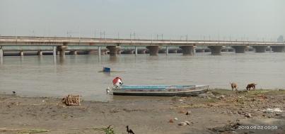 River Yamuna at Okhala Barrage during Aug. 2019 Floods. (Image: Bhim Singh Rawat)