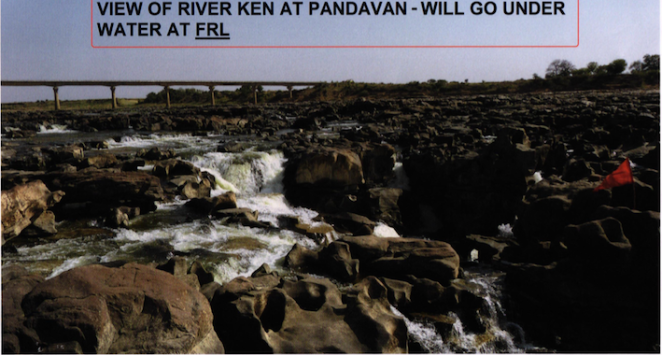 Ken River at Pandvan that faces submergence under Ken Betwa Project - Source CEC Report