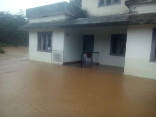 CWC's Muthankera site in Kerala surrounded by flood waters.