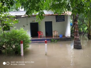 CWC's Kumbidi site on Bharatpuzzah river in Kerala flooded on 9 Aug 19.