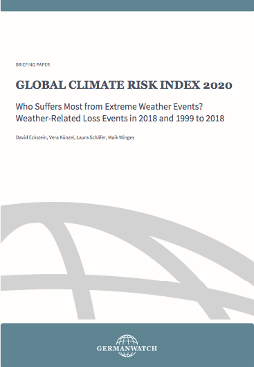Extreme Weather Events 2020.Germanwatch Report Can India Not Assess Its Climate Risk