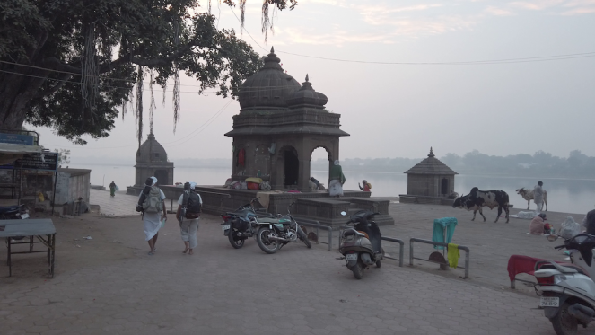 On the ghats of Maheshwar Picture Credit- Kashyap Swaroop