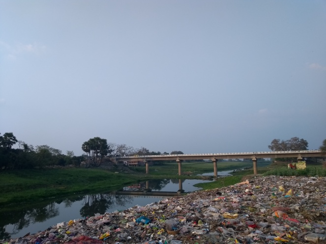 Srirampur bridge on the Champa river (27th February, 2020 in Bhagalpur, Photo by Dr. Ruchi Shree)